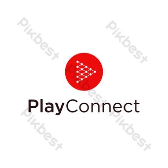 jugar conexión logo vector moderno diseño simple con fondo blanco Elementos graficos Modelo EPS
