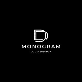 monograma logo letra d con líneas simples y geométricas Elementos graficos Modelo EPS