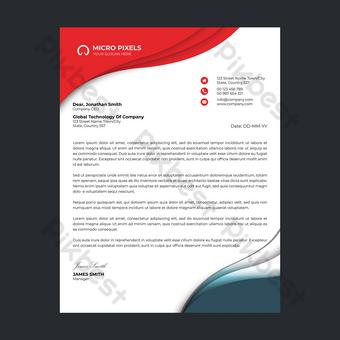 Modèle de Flyer de papier à en-tête d'entreprise moderne Modèle PSD
