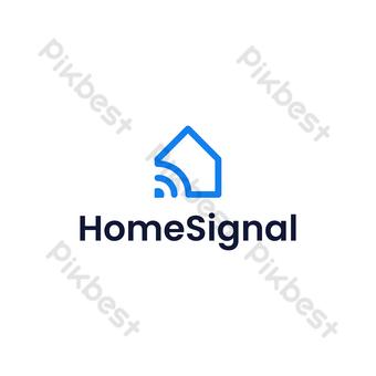 conexión a casa logo vector moderno diseño minimalista con fondo blanco Elementos graficos Modelo EPS