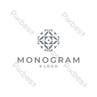 diseño decorativo con logo k sobre fondo blanco Elementos graficos Modelo EPS