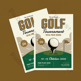 Dépliant du tournoi de golf Modèle PSD