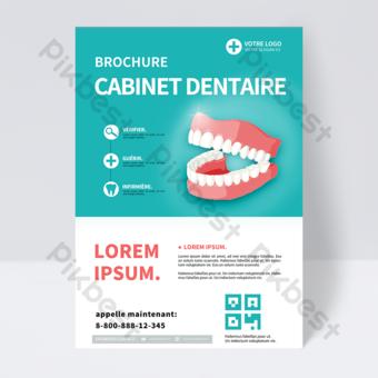 Brochure de clinique dentaire verte moderne simple Modèle PSD