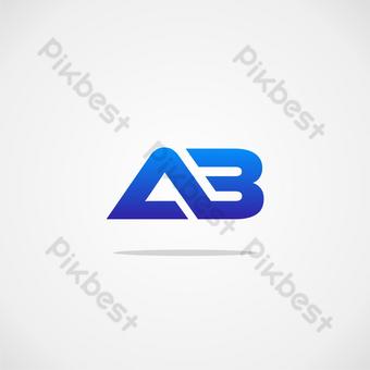 حرف أب شعار قالب تصميم صور PNG قالب CDR