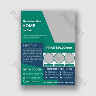 Modèle de conception de flyer de vente immobilière Modèle PSD