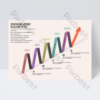 Dépliant de bureau infographique créatif coloré entreprise flèche Modèle PSD