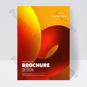 diseño de portada de folleto abstracto estéreo rojo Modelo PSD