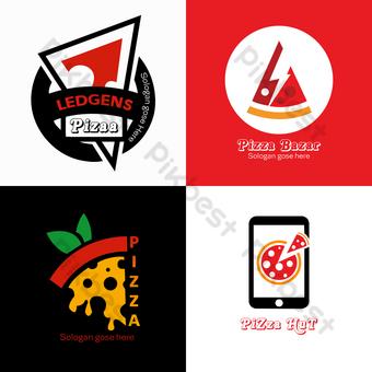 Diseño de logo de pizza Elementos graficos Modelo PSD