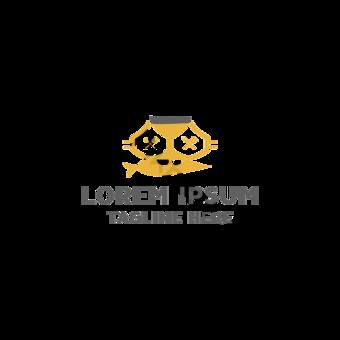 Concepto de diseño de logo de vector de restaurante de gato Elementos graficos Modelo AI