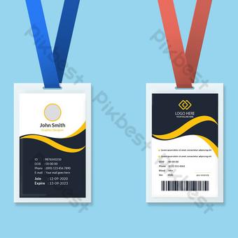 Modèle de conception de carte d'identité Modèle EPS