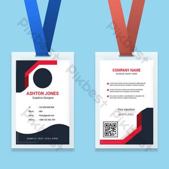 Modèle de conception de carte d'identité professionnelle Modèle EPS